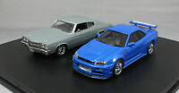 Greenlight The Fast and the Furious Nissan Skyline & Chevrolet Chevelle 2 CarSet