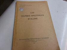 LES COURBES SPECTRALES ETALONS ..1937