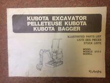 Kubota K008-3 Illustrated Parts List Mini Digger Excavator
