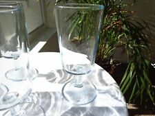 Set of 3 DUZ Detergent Promo Star Sapphire Blue Water Glasses c1950's