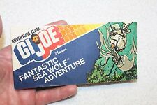 Vintage GI Joe Adventure Team - Sea Wolf Submarine - Mini Comic (1975)