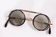More details for antique (1900-1940) sunglass / clip on -bakelite  rolled gold - spectacle covers