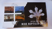 2017 NIUE REPTILES SET OF 4 STAMPS FIRST DAY COVER