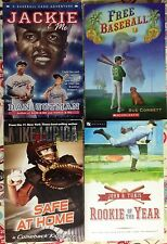 Lot of 4 YA books about Baseball: Rookie, Jackie & Me, Safe at Home, Free VGC PB