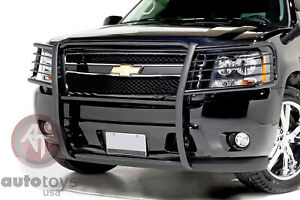 ATU fits Grill Brush Guard Black Fits 07-14 Chevy Suburban 1500 Avalanche Tahoe
