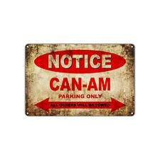CAN-AM Motorcycles Parking Sign Vintage Retro Metal Decor Art Shop Man Cave Bar