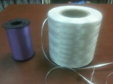 New White Curling Ribbon Miles Of 3/16 Ribbon 2lbs+ of Ribbon Giant roll