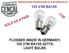 FLOSSER (MADE IN GERMANY) 12V 21W BA15S (QTY2) LIGHT BULB 1156  N177322 6671