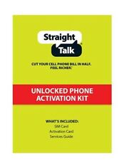 Two Straight Talk Blue Map Nano SIM Cards Activation Kits