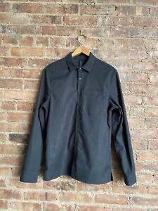 Lululemon Men's Button Up Shirt Small, Greenish Black