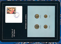 Coin Sets of All Nations Guinea UNC w/card 1,5,10 Francs 1985 25 Francs 1987