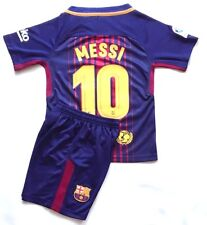 2018 New Season Kids Soccer Jersey Barcelona Home #10 Messi Kit Top+Shorts Sets