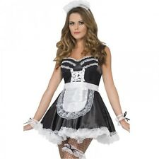 Ladies French Maid Kit 5pc Set Fancy Dress Costume Outfit Accessory Hen Night