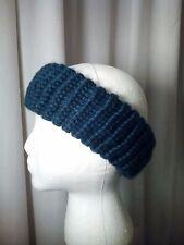 Handmade One Size Teal Green Knitted Ear Warmer 80% Acrylic 20% Wool Blend