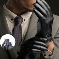 Arm Warmer Touch Screen Men Accessories Leather Gloves Full Finger Mittens