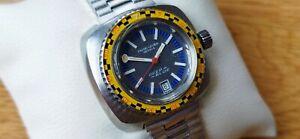 """""""Favre Leuba"""" *Deep Blue* Diver Watch Vintage Automatic Lady Exclusive piece 60s"""