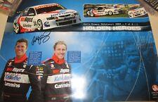 Garth Tander & Cameron McConville signed Gary Rogers MotorSport poster 2004