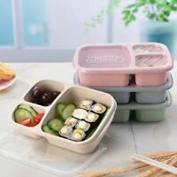 Plastic Lunch Box Food Container Bento Lunch Boxes Microwave 3-Compartment A2G8
