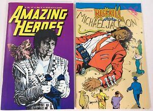 LOT OF 2 MICHAEL JACKSON COMICS- AMAZING HEROES #117 /ROCK 'N ROLL 36 FANTA 1987