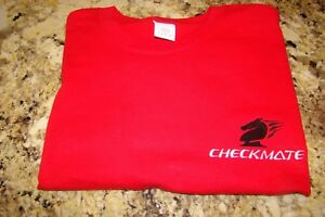 Checkmate Knight Boat Logo Red w/Black + White Size XL (Extra Large) T-Shirt New