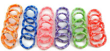 30 PCS MULTI COLOR PRINTED FLORAL STRETCHABLE PONYTAIL HOLDER RUBBER BAND HAIR