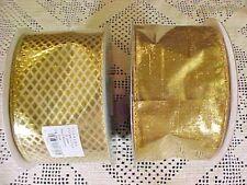 Berwick Grandeur Noel Christmas Ribbon 2 1/2 Width Gold Embossed Lame 20 Yards