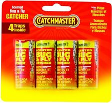 ** NEW CATCHMASTER 16 SCENTED FLY GLUE TRAPS RIBBON TAPE INSECT STRIP SUMMER NIP