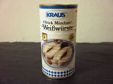 4 Piezas Munich Salchicha blanca por Metzger sin Producto industrial Conservas