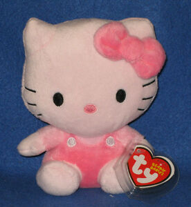 TY HELLO KITTY PINK BEANIE BABY - MINT with MINT TAG