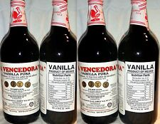 4 X La Vencedora Pure Mexican Vanilla Extract Glass Bottle 31oz Each From Mexico
