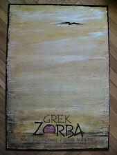 Original theater Polish poster by Kaja, Zorba the Greek
