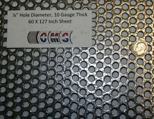 Perforated Mild Steel, 1/4 inch hole, 10 gauge, 60 X 127 inch  40% open area