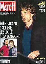 PARIS MATCH N°3383 20 MARS 2014  L'RWEN SCOTT&MICK JAGGER/ VOL MH370/ CLOONEY