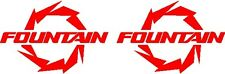 """6"""" Custom FOUNTAIN Props Boat Decal Sticker - PAIR!!"""