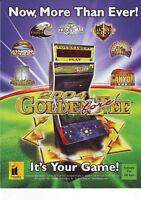 2004 GOLDEN TEE FORE GOLF VIDEO ARCADE GAME FLYER NOS