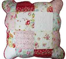 Linens n Things Emma Red Patch Shabby Chic Quilted Cushion Cover