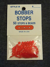 Bobber Stops & Beads - 50 Pack - Style B - 3 Hole