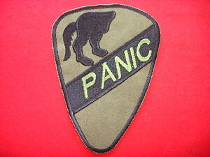 1st Cavalry Division PANIC Team - Vietnam War Subdued Patch