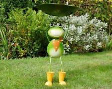 Frog Bird Bath / Feeder Metal Garden Lawn Ornament Pond Feature High Quality