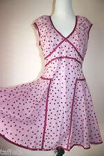 Zac Posen Target Dress Jr 11 M Rockabilly Retro Polka Dot Sun Sailor Purple Pink