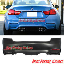 M4 (F82) Style Rear Bumper (2 Outlets) [2 Tips / Outlet] Fits 07-13 BMW E92 2dr