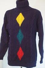 Vintage Suburbans Stoplight Sweater Cable Knit Turtleneck Novelty Size M