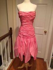 Stunning Murray Arbeid Pink Silk Strapless Dress Princess Di Favorite Size 6