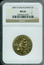2007-D SACAGAWEA DOLLAR NGC MS 66  TELEMARKETERS GOLD 10 COINS .