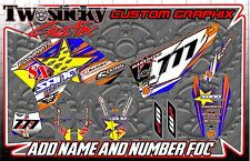 KTM 125/150/250/450 Graphics Kit with custom numbers etc - 2002-2016