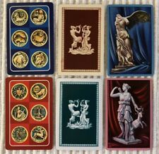 6 Vintage Playing Cards ~ Zodiac Signs & Greek Mythology ~Extra Joker ~2 Jokers