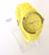 s.Oliver Damen Uhr gelb Silikon SO-2434-PQ