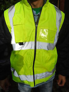 Hi Vis Yellow Reversible Body Warmer with Detachable Sleeves Sizes M to 5XL