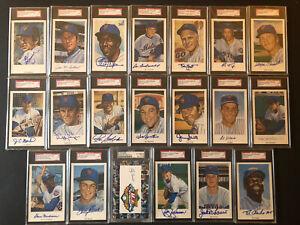 PSA & SGC Ron Lewis 1969 Mets Postcard Set of 20 Signed Seaver Berra Koosman