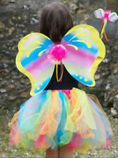 Girls Bright Rainbow Fairy Princess Carnival Fancy Dress Costume Outfit 3-8yrs